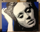 Adele Pop Art handpainted painting 16x20