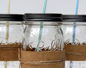 Individual Mason Jar Glass with Lid - holiday gift, teacher's gift