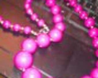 Cranberry Well Made Beaded Necklace......Rich And Most Lovely