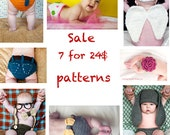 SALE- Buy 7 Patterns for 24 Dollars