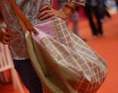 Reversible Orange Messenger Bag