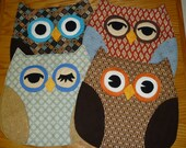 Set of 4 unique Owl Placemats