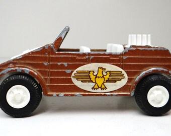 Vintage Tootsie Toy Kubelwagel car, German Military, Made in USA