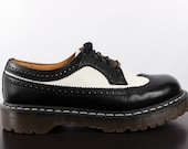 VINTAGE DR. MARTENS:  men's two-tone spectator dress shoes
