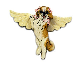 Angel Dog Shih Tzu Dog Angel Wooden Wall Hanging