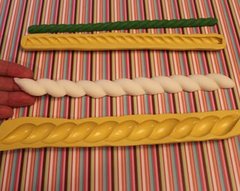 Large Rope Border Silicone Mold ( on the first picture in WHITE)