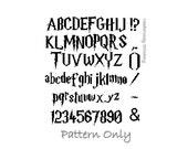 Harry Potter Cross Stitch Pattern, Instant Download, Harry Potter Alphabet Pattern PATTERN ONLY