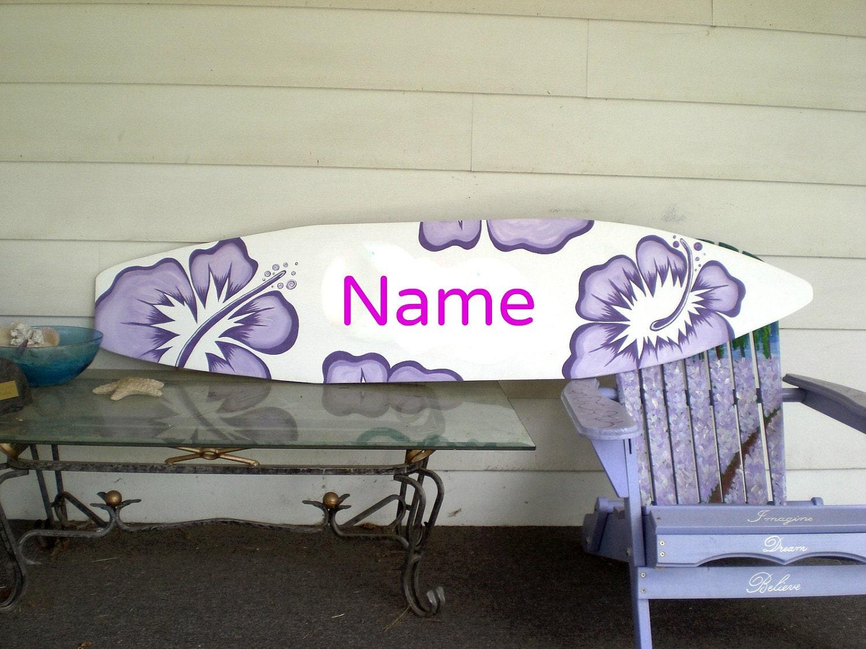 6 foot wood hawaiian surfboard wall art decor or headboard zoom amipublicfo Image collections