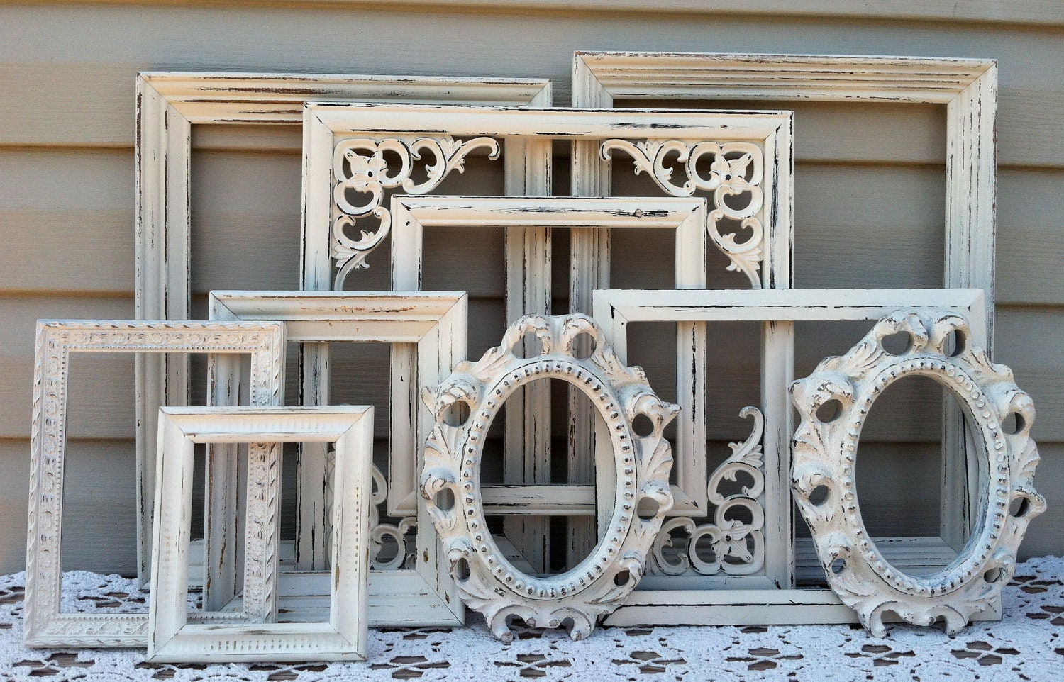 White Victorian Open Frame Collection By Refeatheryournest