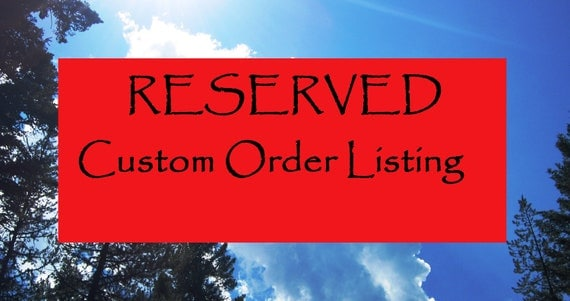 RESERVED Listing for CELINDA  ( clemgirl ) - Thank you so much for your order.