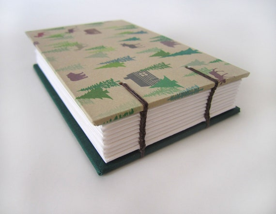 Wilderness Camping Print Blank Book - Outdoor Journal - For Him