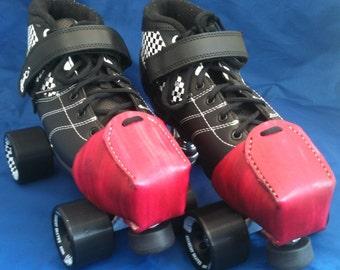 Leather Toe Snouts / Caps Plain Choice of Colours Roller Derby