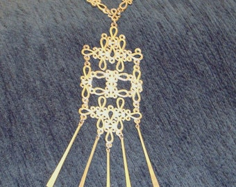 Vintage 70's Lacey Chain Necklace