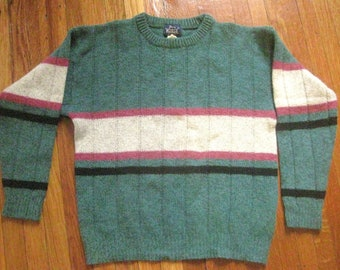 Pullover Bulky Sweater Vintage Made in Hong Kong Large