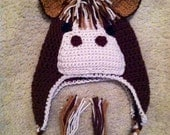 Happy Horse Hat Pattern Size Newborn to Adult