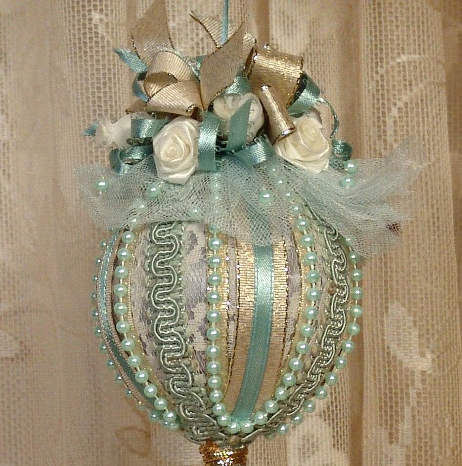 Victorian Christmas Decorations: Handmade VICTORIAN CHRISTMAS Ornament / Keepsake Vintage