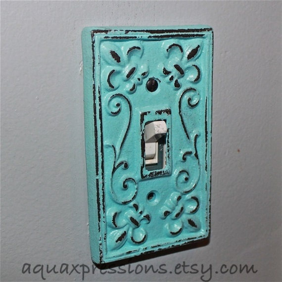 Aqua Decorative Light Switch Plate Single By Aquaxpressions