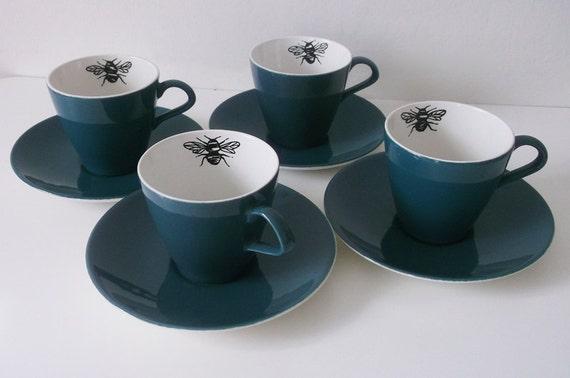 Queen Bee teacups