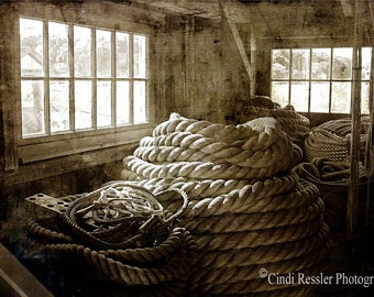 Ropewalk, Fine Art Photography, Black and White Photography, Nautical Photography