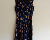 Slinky 90s floral dress, XS- Small
