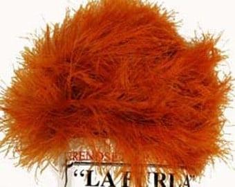 Faux Fur Yarn - La Furla by Trendsetter Yarns - Orange