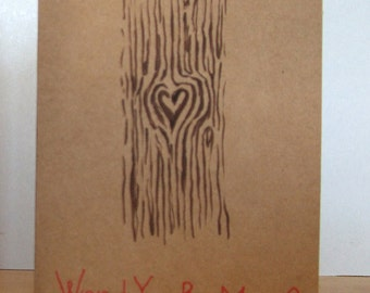Wood You Be Mine Card