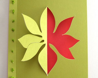 Pointsettia Card
