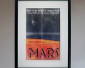 Retro Sci-Fi Mars Travel Poster - 13x19 Print