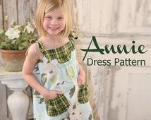 Annie Vintage Style Girls Dress PDF Pattern Tutorial, Easy Sew sizes 12m thru 8 included