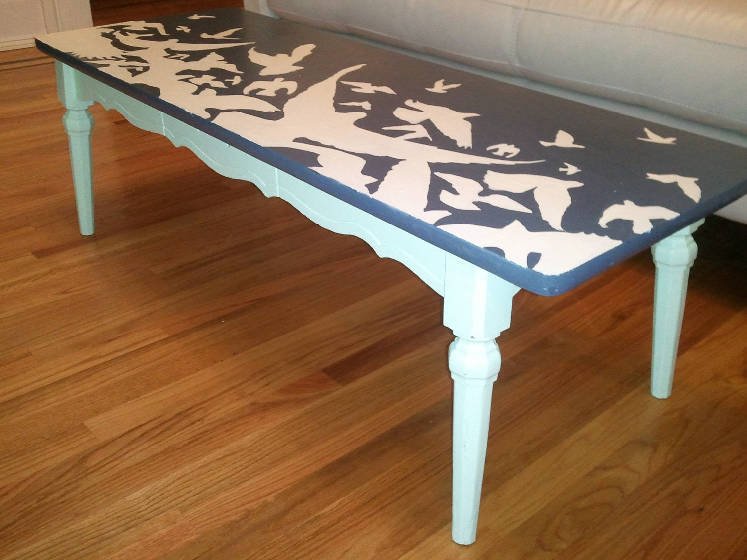 Flock Of Birds Up Cycled Hand Painted Furniture Coffee Table