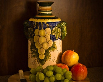 Urn and Fruit Picture, Still Life Picture, Fine Art 8x10 Photo, Fruit Picture, Apple Picture, Fruit Decoration