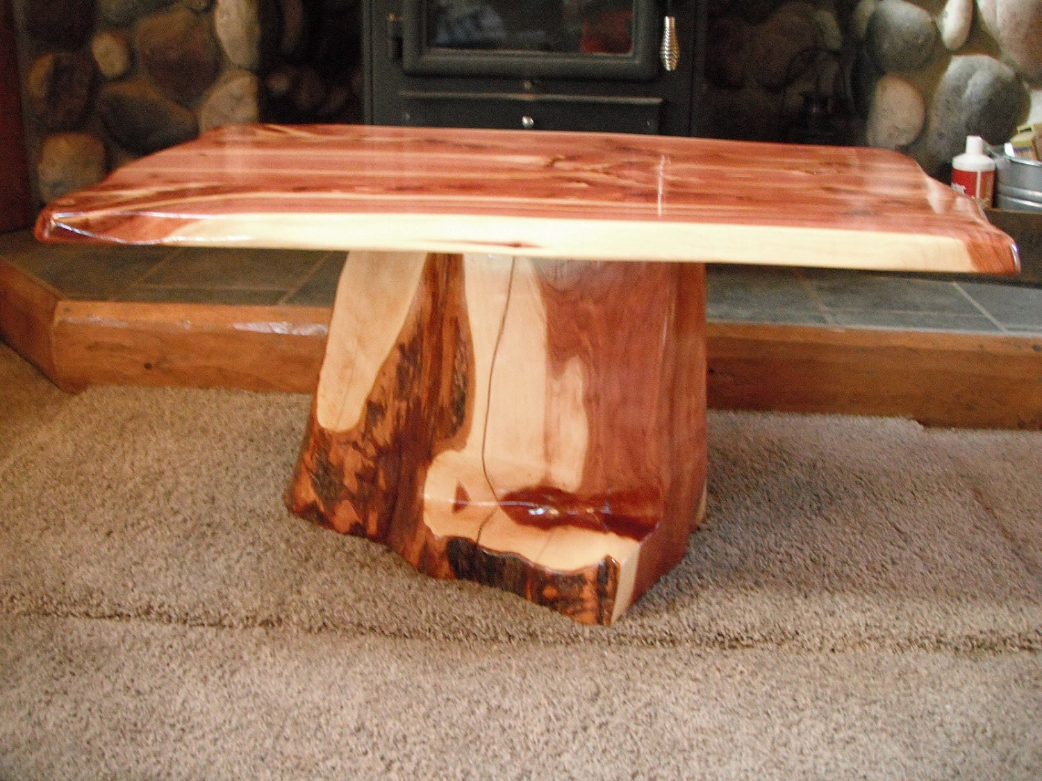 Western red cedar table top western red cedar live edge table top -  Zoom