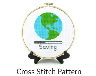 Saving Planet Earth Cross Stitch Pattern