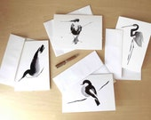 bird note cards // stationery set