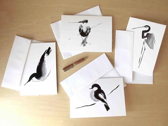 bird note cards // stationery set