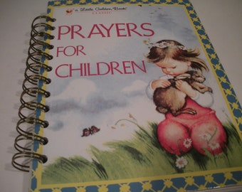 Prayers for Children Little Golden Book Recycled Journal