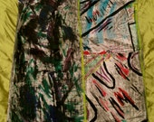 Jarboe hand-painted graffiti dress