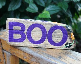BOO Halloween Driftwood Sign: Rustic, Reclaimed Wood Halloween Home Decor. Halloween Decoration, Halloween Decor, Porch Decor, Fall Decor