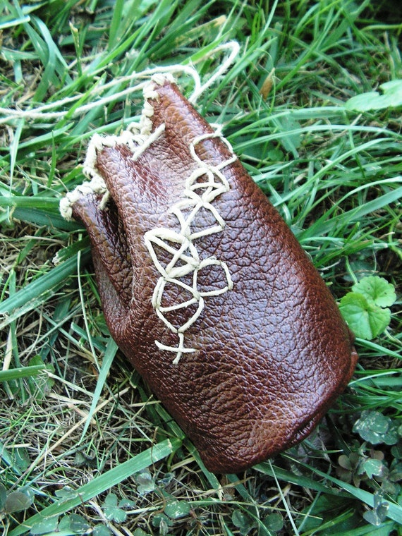 Leather pouch in fantasy style