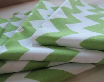 Chevron Cloth Napkins in Green & White by Riley Blake