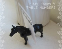 Country Style Wedding Decor - Placecard or Table card Holders - Set of 50 whole animals (100 magnets) - Mix animals and color