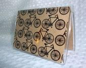 Bicycle Print Mini Wallet Credit Card Holder