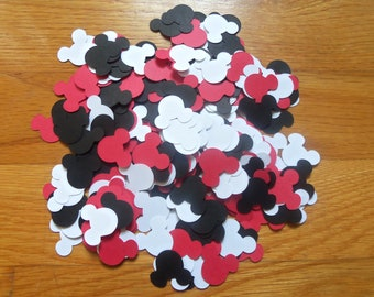 300 Mickey Mouse Heads Birthday Party Confetti Red White and Black