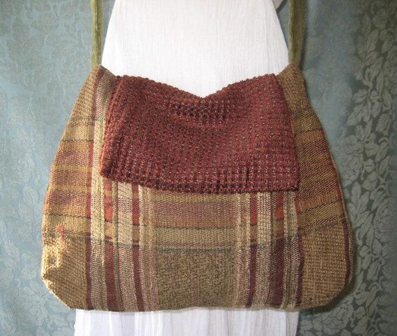 Crossbody Bags and Purses Tweed Plaid Boho Purse