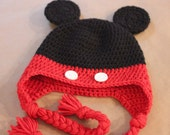 Mickey Mouse Crochet Hat RESERVED for Molly