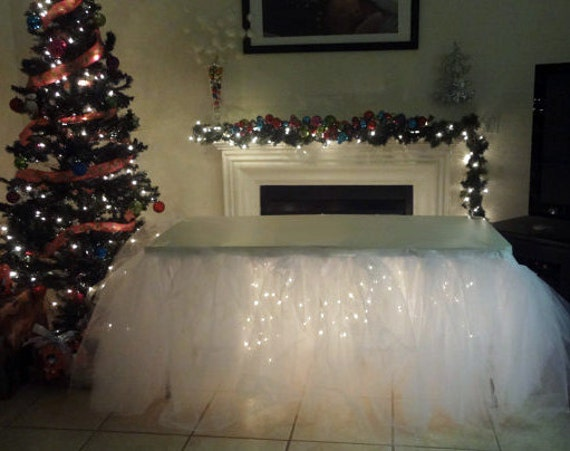 Tulle Tutu Table Skirt Head Table Party Table By