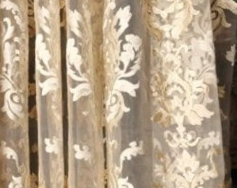 Koplavitch VICENZIA Embroidered SHEER Fabric 10 Yards 106 Doublewidth  OSYTER
