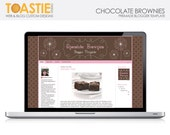 Blogger Template Chocolate Brownies - Browns and pinks elegant design