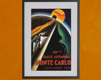 Monte Carlo Rallye, 1931 - 8.5x11 Poster Print - also available in 13x19 - see listing details
