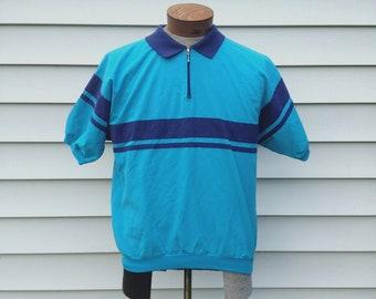 Vintage // Retro Striped Polo Shirt
